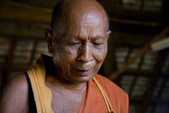 A sabedoria da monge idosa Imagens de Stock