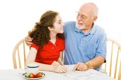Sabedoria do Grandpa foto de stock royalty free