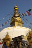 A sabedoria eyes, monastério de Swayambhunath, Nepal foto de stock