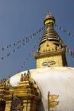 A sabedoria eyes, monastério de Swayambhunath, Nepal fotografia de stock royalty free
