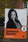 SABEENA SAREEN_CANDIDATE OD liberału ALLIANCE przyjęcia Obrazy Stock