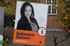 SABEENA SAREEN_CANDIDATE OD liberału ALLIANCE przyjęcia Obraz Royalty Free
