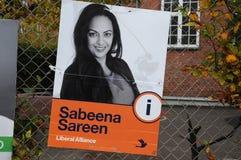 SABEENA SAREEN_CANDIDATE OD liberału ALLIANCE przyjęcia Zdjęcie Royalty Free