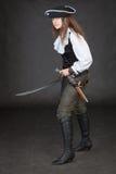 saber πιστολιών πειρατών κορι&tau Στοκ Εικόνα