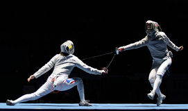 Saber πρωταθλήματα παγκόσμιας περίφραξης Στοκ φωτογραφίες με δικαίωμα ελεύθερης χρήσης