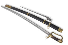 Saber russo del dragoon (sabre, spada di cavalleria) Fotografia Stock