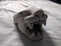 Saber tooth skull Stock Photos