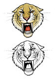 Saber tooth tiger. Vector illustration of saber tiger Stock Photography