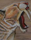 Saber Toothed Tiger puissant image stock