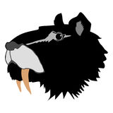 Saber-toothed tiger. Silhouette of saber-toothed tiger Royalty Free Stock Photography