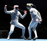 Saber World Fencing Tournament Royalty Free Stock Photos