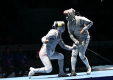 Saber World Fencing Tournament Royalty Free Stock Images