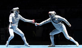 Saber World Fencing Tournament Royalty Free Stock Image