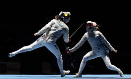 Saber World Fencing Tournament Royalty Free Stock Photo