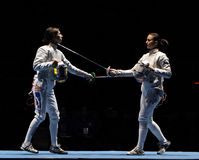 Saber World Fencing Tournament Stock Image