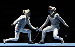 Saber World Fencing Tournament Stock Images