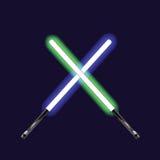 ανάψτε sabers Στοκ Εικόνες