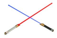 διασχισμένα ελαφριά sabers Στοκ Εικόνες