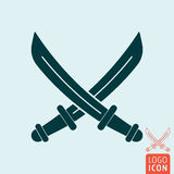Sabers icon isolated Stock Images