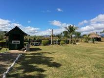 Sabeto błota baseny z recepcyjny budka w Nadi, Fiji obraz stock