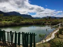 Sabeto-Schlamm-Pool nahe gelegenes Nadi, Fidschi lizenzfreie stockfotografie