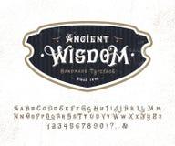 Sabiduría antigua de la fuente stock de ilustración