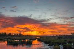 Sabie rzeki wschód słońca Fotografia Stock