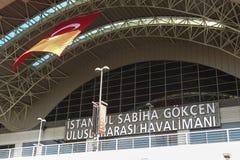 Sabiha Gokcen国际机场(锯)在伊斯坦布尔,土耳其 库存照片