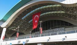 Sabiha Gokcen国际机场(锯)在伊斯坦布尔,土耳其 免版税库存图片