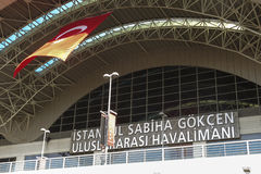 Sabiha Gokcen International Airport (SÅG) i Istanbul, Turkiet arkivfoton