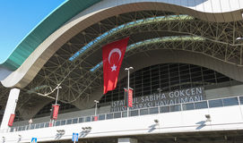 Sabiha Gokcen International Airport (SÅG) i Istanbul, Turkiet royaltyfri bild