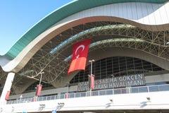 Sabiha Gokcen International Airport SÅG i Istanbul, Turkiet arkivbilder