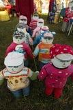 SABILE, LATVIA - APRIL 21, 2019: Small artificial city of dolls in Sabile, Latvia - Lellu pilseta stock images
