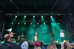 Sabina Ddumba - szwedzi wystrzału piosenkarz Obrazy Stock