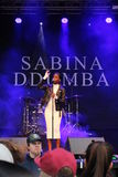 Sabina Ddumba - szwedzi wystrzału piosenkarz Fotografia Royalty Free