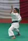 Sabina Varsallona - Karate World Champion. Gold Medal of Karate at World Championships of wuko in Valencia 2007 stock image