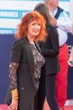 Sabine Azema fransk aktris, på den röda mattan på den 43rd Deauville amerikanfilmfestivalen Royaltyfri Fotografi