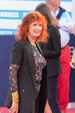 Sabine Azema, french actress, on the red carpet at the 43rd Deauville American Film festival Royalty Free Stock Photography