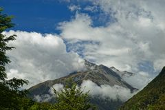 Sabine dolina, Nelson jeziora parki narodowi, Nowa Zelandia obraz royalty free