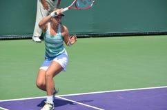 Sabine Lisicki forehand przez Obrazy Royalty Free