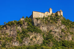 Sabiona Castle in Chiusa Royalty Free Stock Photo
