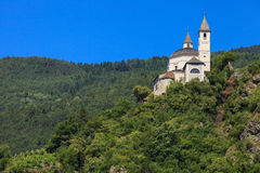Sabiona monastery in Chiusa Royalty Free Stock Photo