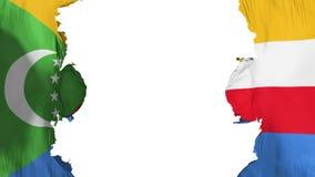 Sabla Comoros flagga stock illustrationer