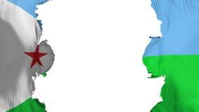 Sabla Djibouti flagga vektor illustrationer