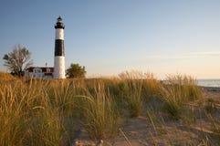 большой sable пункта маяка Стоковая Фотография RF