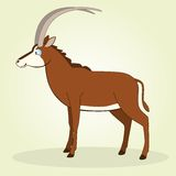 Sable Antelope. Vector Illustration of Cartoon Sable Antelope Stock Image
