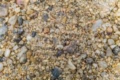 Sable brut naturel Grains de sable extérieurs image libre de droits