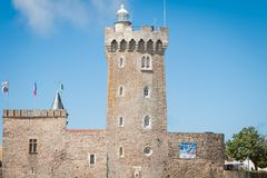Lighthouse of la Chaume or tower of Arundel royalty free stock image