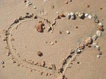 sable de coeur Image stock