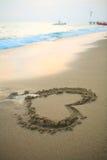 sable de coeur Photographie stock libre de droits